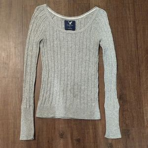 AMERICAN EAGLE knot fitted sweater